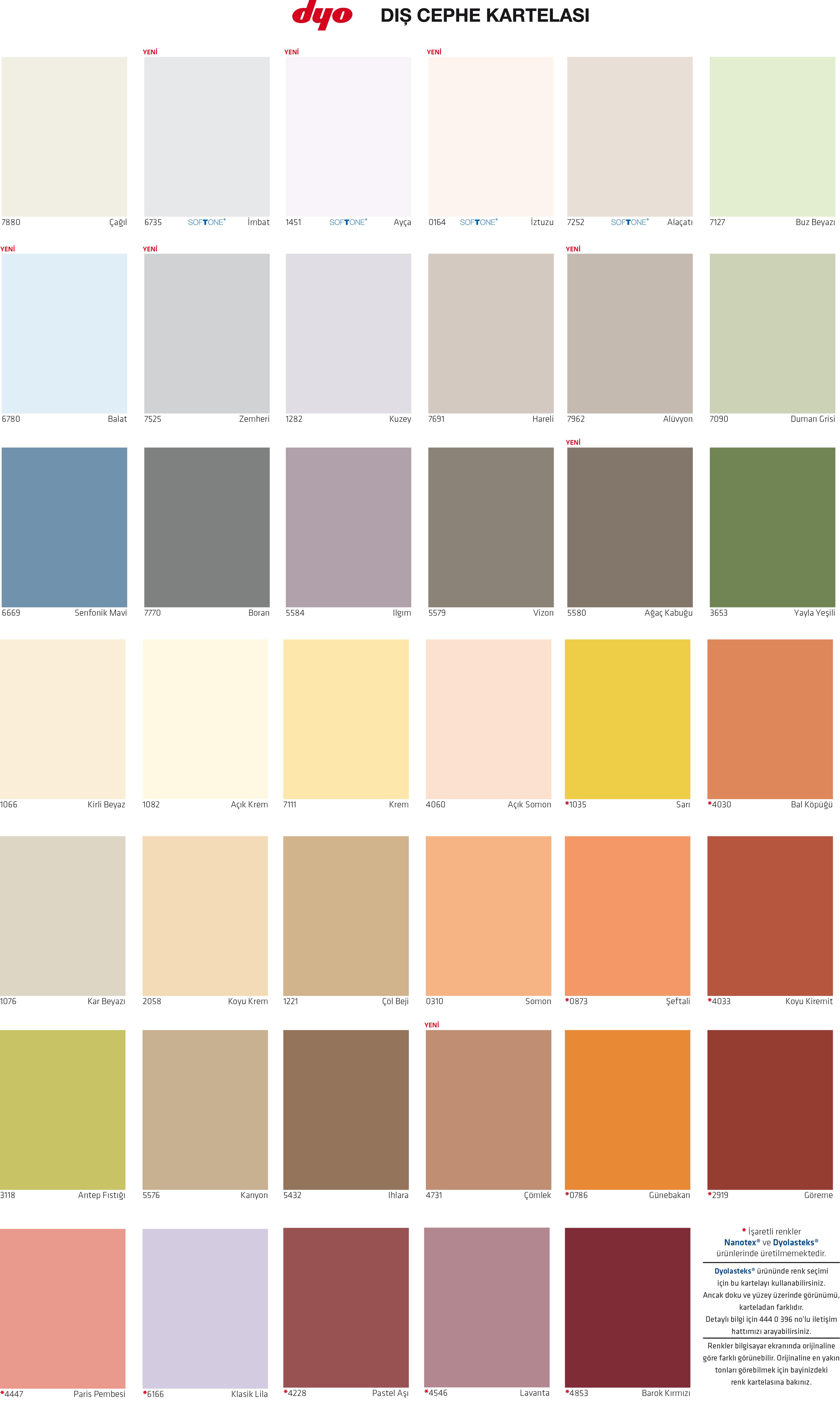 Dyo köpük rengi
